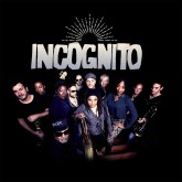 Overhead picture of band members of Incognito