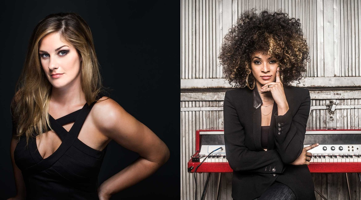 Lindsey Webster and Kandace Springs
