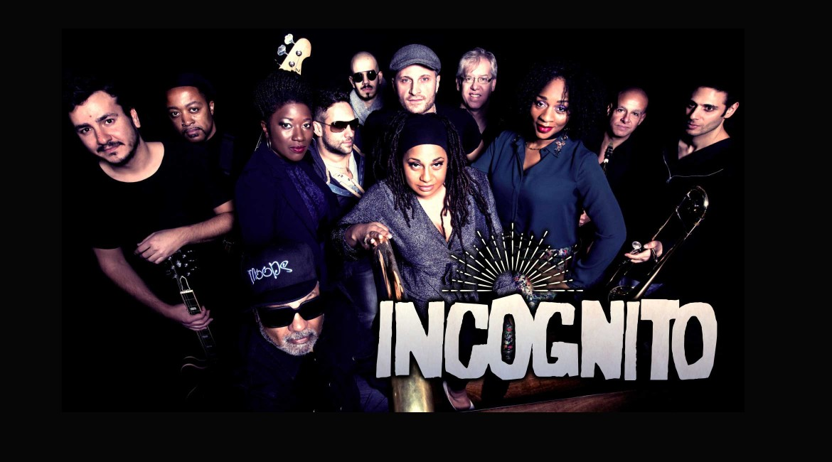 Overhead shot of the band Incognito